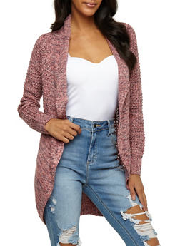 Marled Knit Open Front Cardigan - 3022015051360