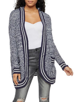 Long Sleeve Hooded Open Front Cardigan - 3022015051363