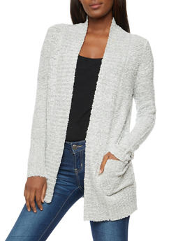 Textured 2 Pocket Cardigan - 3022015051370