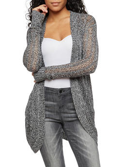 Long Sleeve Open Front Cardigan - 3022015052365