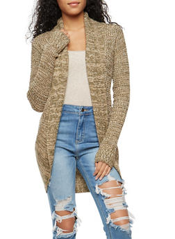 Multi Color Knit Open Front Cardigan - 3022038340209
