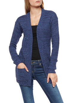 Two Toned Knit Cardigan - 3022038342207
