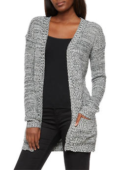 Open Front 2 Pocket Cardigan - 3022038347207