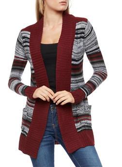 Multi Striped Cardigan - 3022038347212