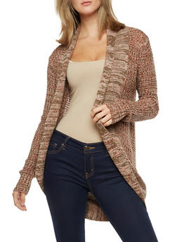 Long Sleeve Open Front Cardigan - 3022038348209
