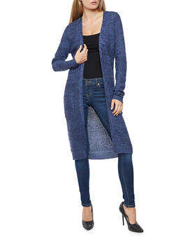 Two Toned Knit Duster - 3024038347211