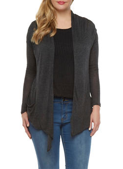 Open Front Cardigan - 3031054261612