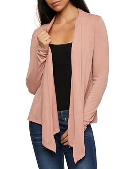 Long Sleeve Open Front Cardigan - 3031054261741