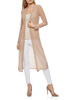 Long Sleeve Mesh Duster - 3031058759233