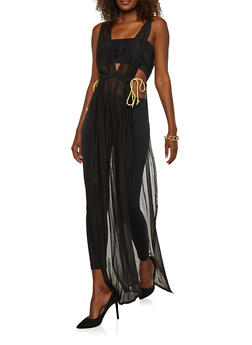 Mesh Open Side Maxi Top - 3031067330251