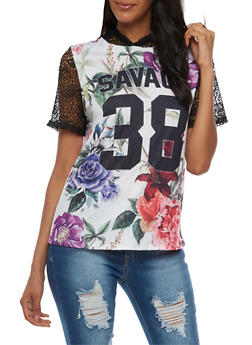 Savage Floral Hooded T Shirt - 3032067330119