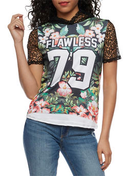 Flawless Graphic Tropical Hoodie - 3032067330121