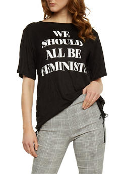 We Should All Be Feminists Graphic Top - BLACK - 3032067330123