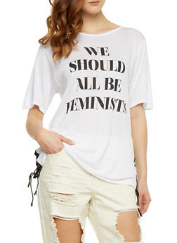 We Should All Be Feminists Graphic Top - WHITE - 3032067330123