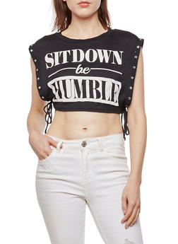 Sit Down Be Humble Cropped Top - 3032067330203