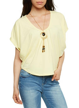 Circle Top with Necklace - 3033038347584