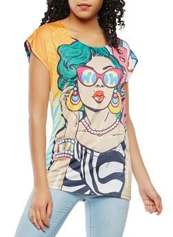 Pop Art Graphic Tee - 3033058750963