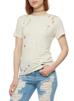 Short Sleeve Lasercut T Shirt - 3033058751702
