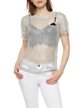 Shredded Chain Mesh Top - 3033058751773