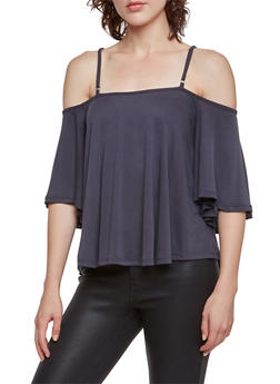 Off the Shoulder Top with Crisscross Back - 3033058755611