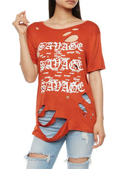 Savage Graphic Lasercut Top - 3033058759085