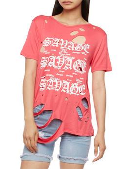 Savage Graphic Lasercut Top - 3033058759085
