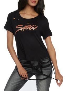 Savage Graphic Lasercut T Shirt - 3033058759086