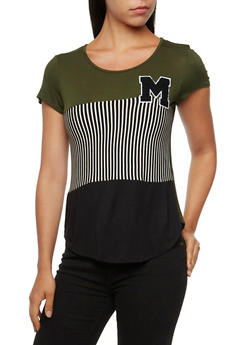 Paneled Top with Letter Patch - 3033067330246
