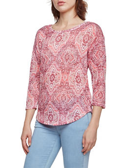 Almost Famous Top in Abstract Aztec Print - 3034015996118