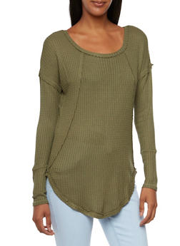 Knit Top with Long Sleeves - 3034015996941