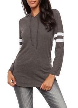 Long Sleeve Hooded Top - 3034033872150