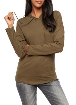 Long Sleeve Hooded Top - 3034033876772