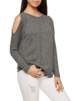 Dolman Sleeve Cold Shoulder Top - 3034038342185