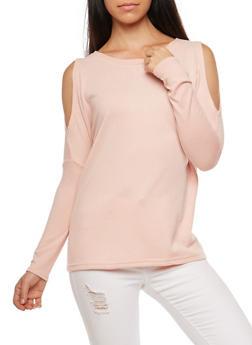 Dolman Sleeve Cold Shoulder Top - SALT - 3034038342185