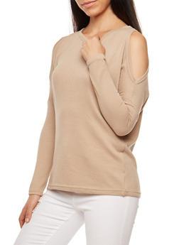 Dolman Sleeve Cold Shoulder Top - 3034038342185