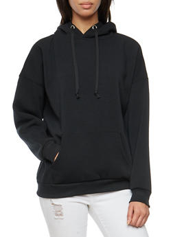 Fleece Lined Hooded Sweatshirt - 3034051066305