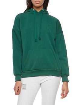 Fleece Lined Hooded Sweatshirt - 3034051066305
