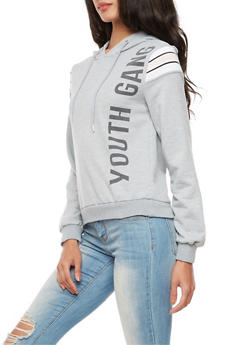 Graphic Youth Gang Hooded Sweatshirt - 3034051066347