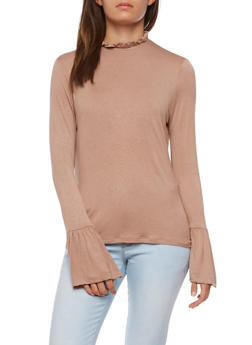 Long Flared Sleeve Top - 3034058758843