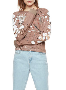 Paint Splatter Slashed Top - 3034058759372