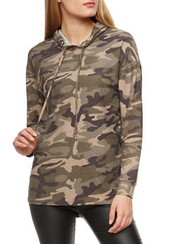 Camouflage Drawstring Hoodie - 3034067330104