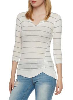 Waffle Knit Sweater - 3035015995450