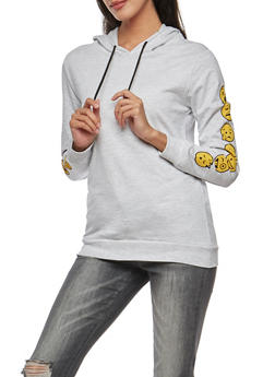 Days of the Week Emoji Hooded Sweatshirt - 3036033871333