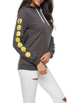 Days of the Week Emoji Hooded Sweatshirt - 3036033871333