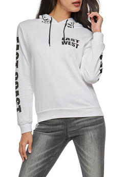 East West Graphic Hoodie - WHITE - 3036033874403
