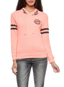 Love Graphic Hooded Top - 3036033879161