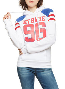Hoodie with NY Babe 96 Graphic - 3036038341423