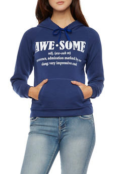 Fleece Hoodie with Awesome Graphic - 3036038341435