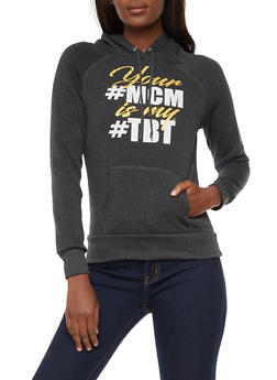 Long Sleeve Graphic Hooded Top - 3036038342501