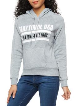 Long Sleeve Hooded Graphic Swaetshirt - 3036038342505